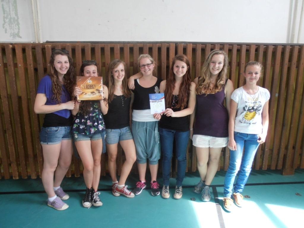 Volejbalový tým děvčat 2012/2013